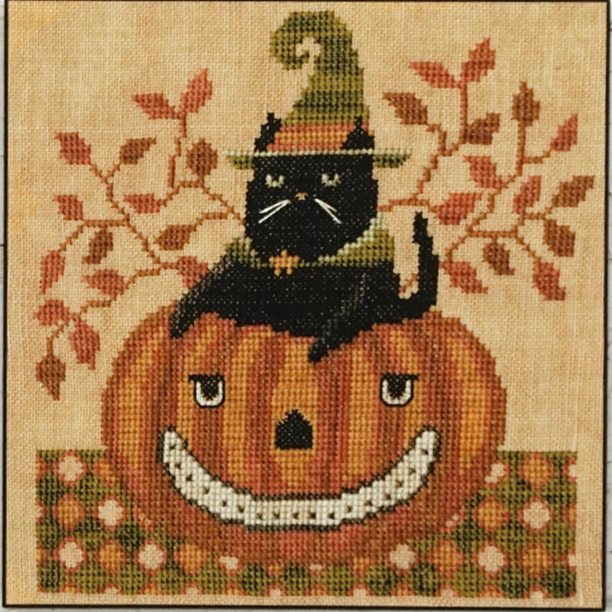 Snarky Cat counted cross stitch pattern