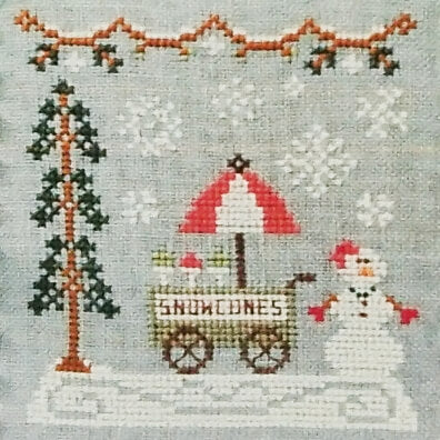 Snow Cone Cart counted cross stitch pattern