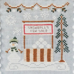 Snowball Stand Cross Stitch Pattern | Country Cottage Needleworks