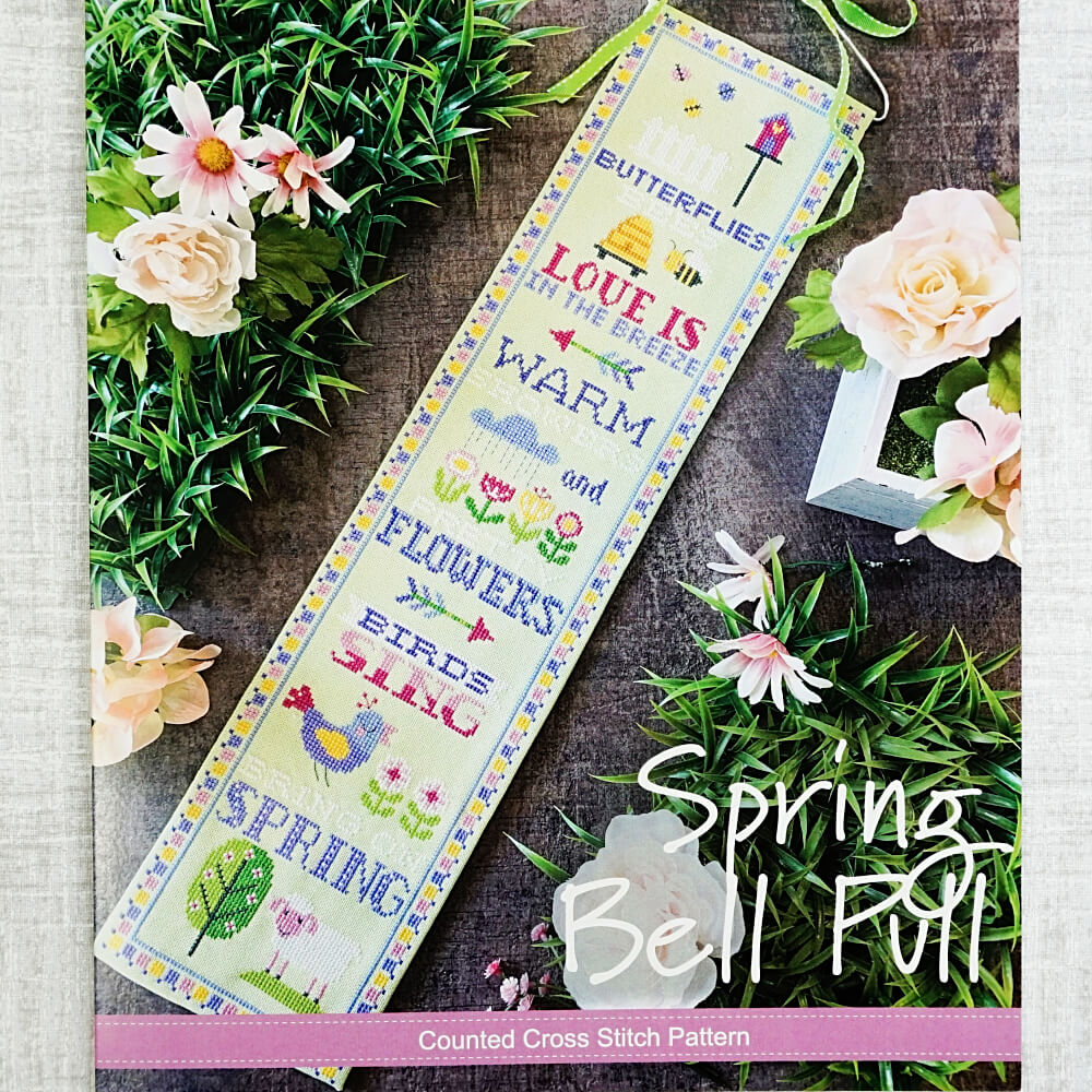 Spring Bell Pull counted cross stitch pattern