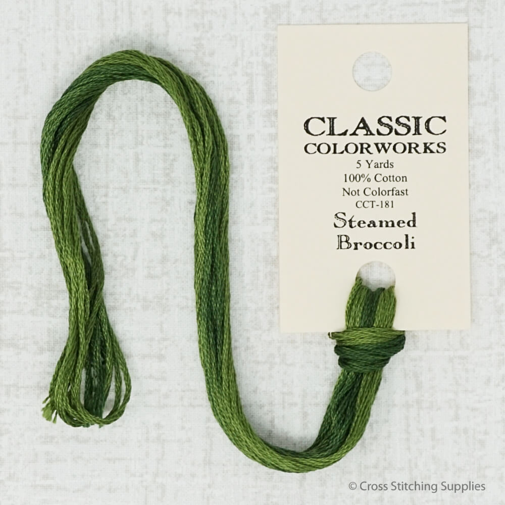 Classic Colorworks - Steamed Broccoli (5 yd. skein) Overdyed Floss