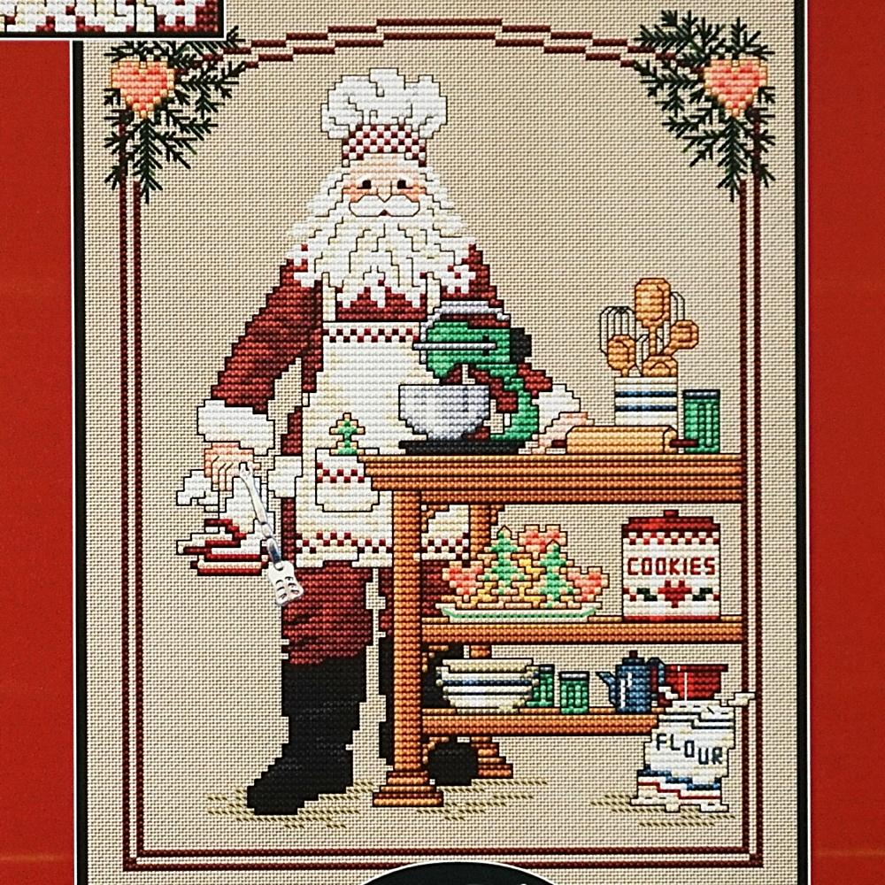 Cookie Santa counted cross stitch chart