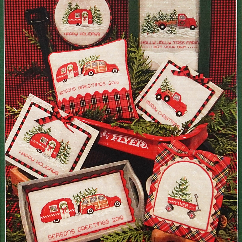 Home for the Holidays counted cross stitch chart