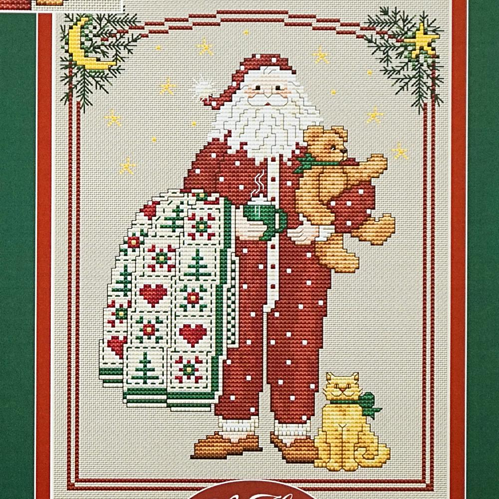 Pajama Santa counted cross stitch chart
