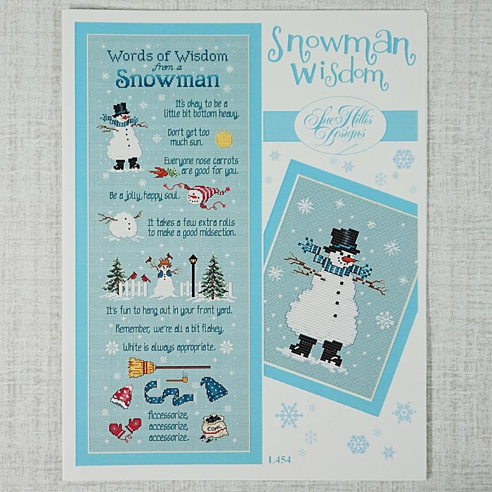 Snowman Wisdom by Sue Hillis Designs for sale