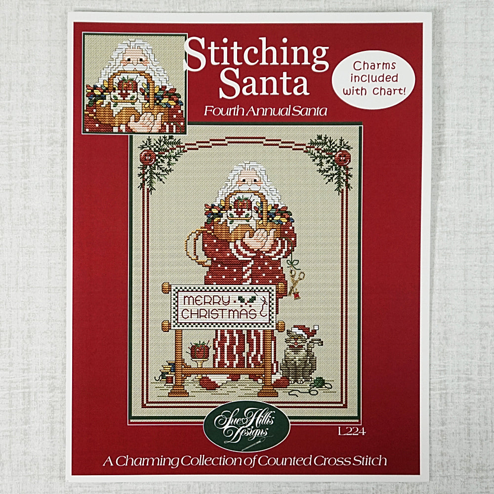 Stitching Santa by Sue Hillis Designs for sale
