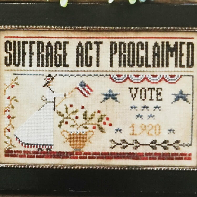 Suffrage Act counted cross stitch pattern