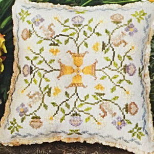 Summer Acorns counted cross stitch pattern