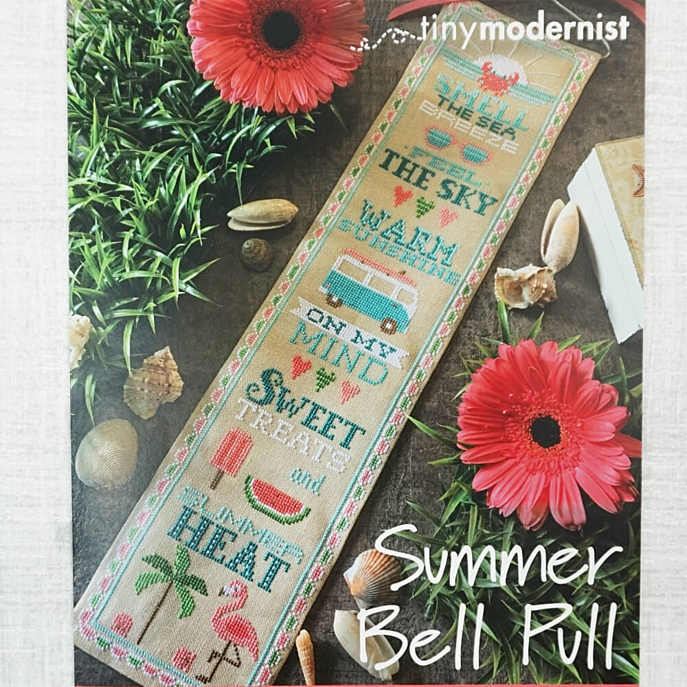 Summer Bell Pull counted cross stitch pattern