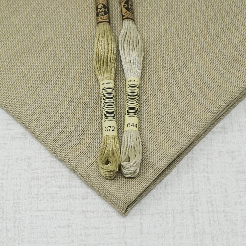 Summer Khaki 32 count linen embroidery fabric
