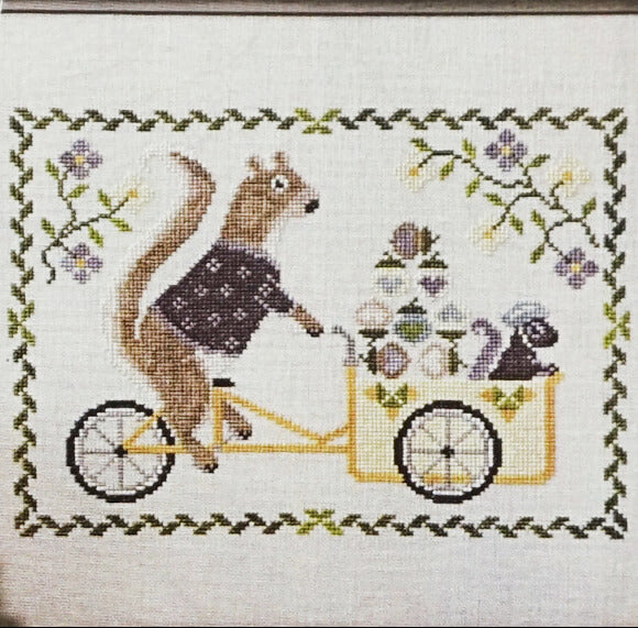 Summer Squirrel Counted cross stitch pattern