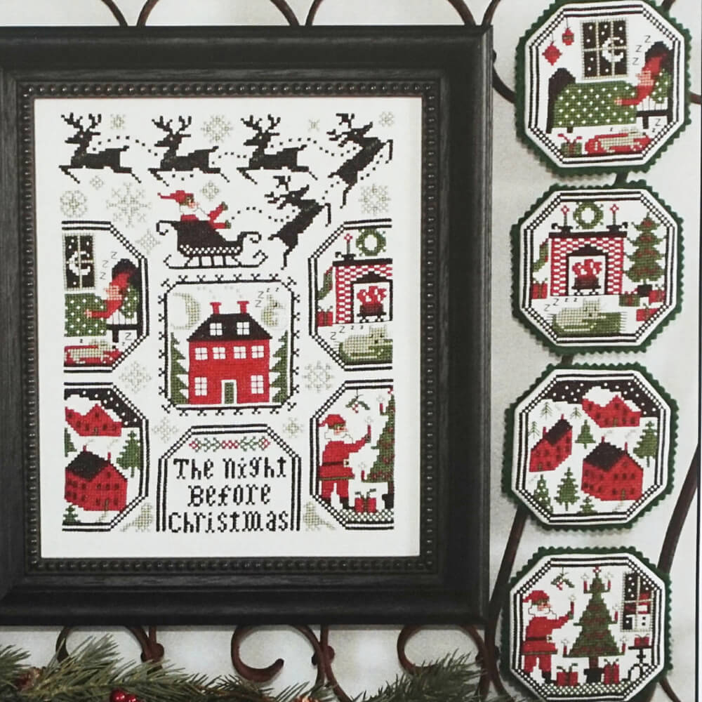 The Night Before Christmas counted cross stitch pattern