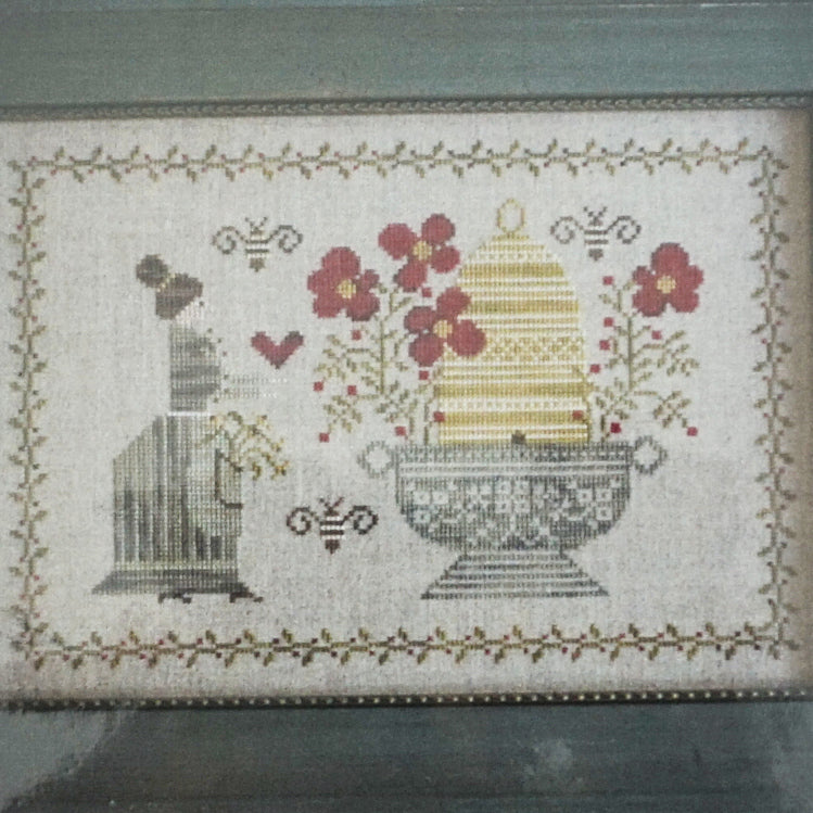 The Beekeeper counted cross stitch pattern