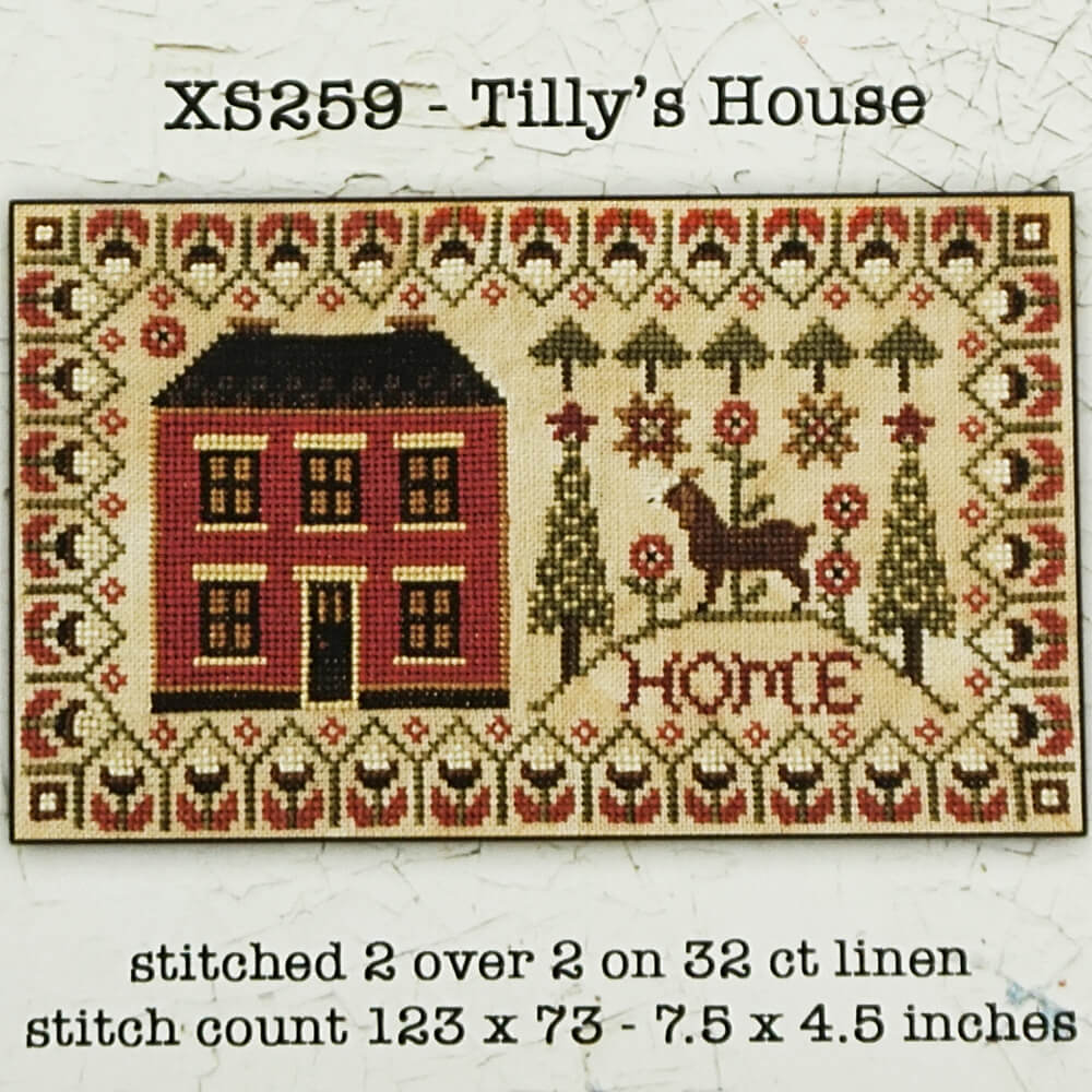 Tilly's House counted cross stitch pattern
