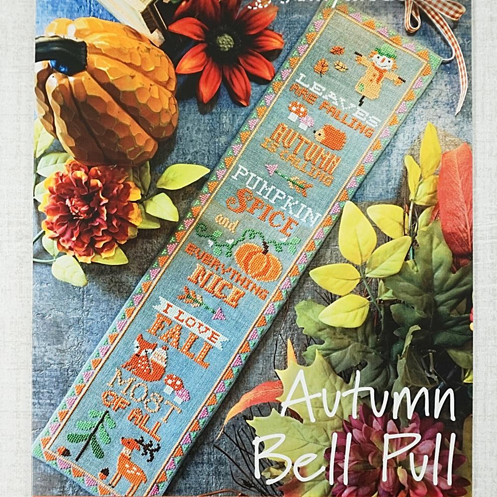 Autumn Bell Pull counted cross stitch pattern
