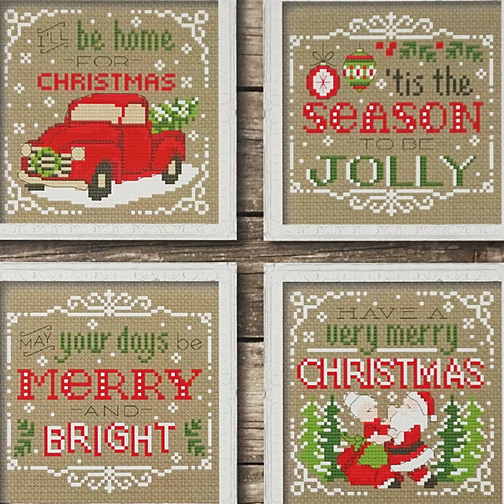 Christmas Signs counted cross stitch chart