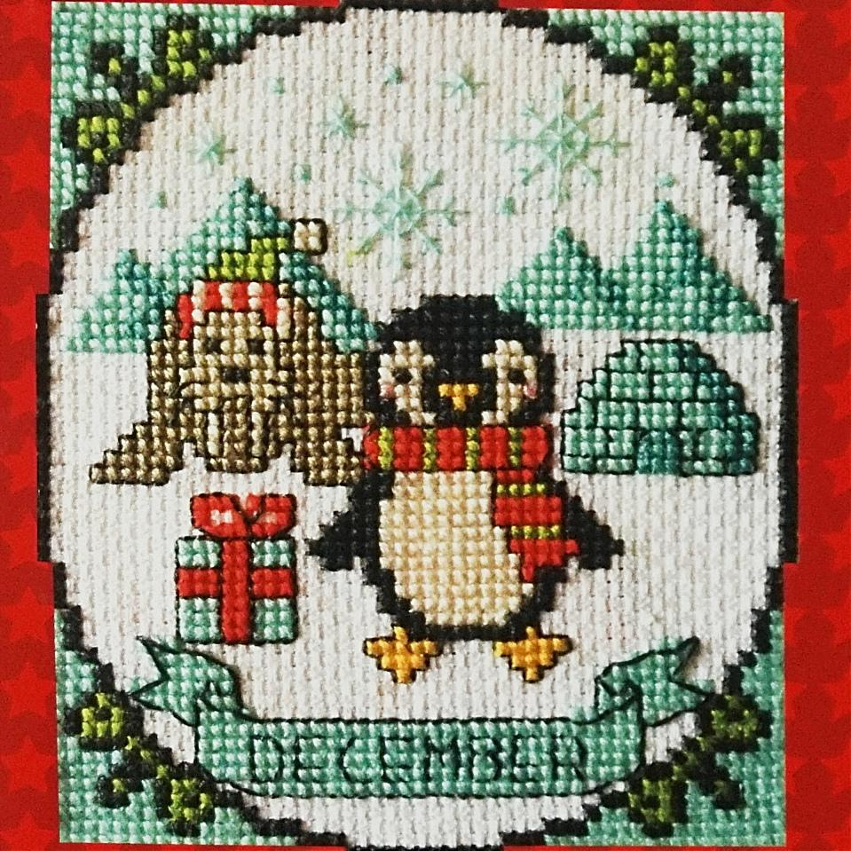 December counted cross stitch chart