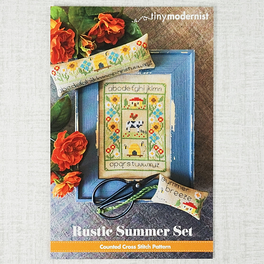 Rustic Summer Set counted cross stitch chart