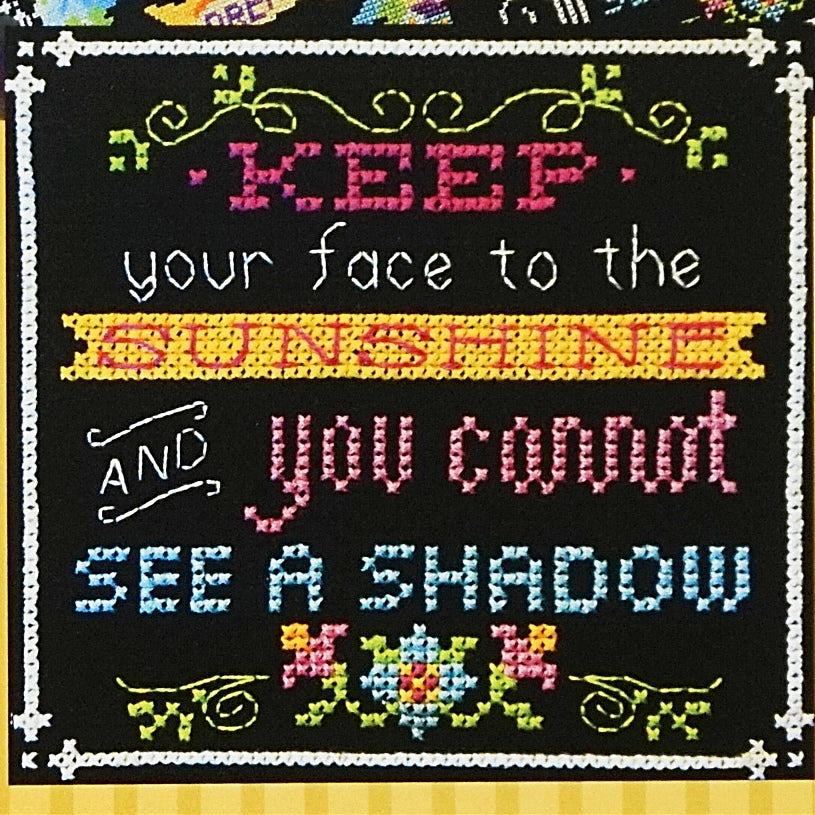 Face the Sunshine counted cross stitch chart