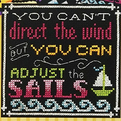Words to Live By - Part 6: Go with the Flow Cross Stitch Pattern | Tiny Modernist