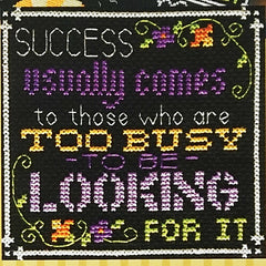 Words to Live By - Part 4: Recipe for Success Cross Stitch Pattern | Tiny Modernist
