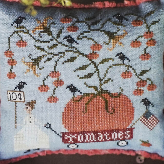 Tomato Dame counted cross stitch pattern