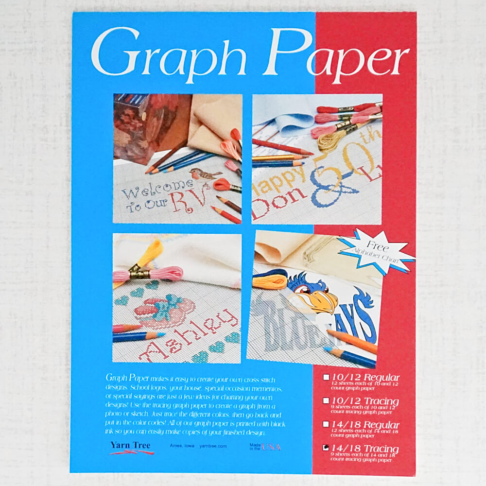 14 and 18 count tracing graph paper cover of pad