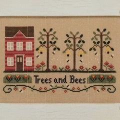Trees and Bees Cross Stitch Pattern | Country Cottage Needleworks