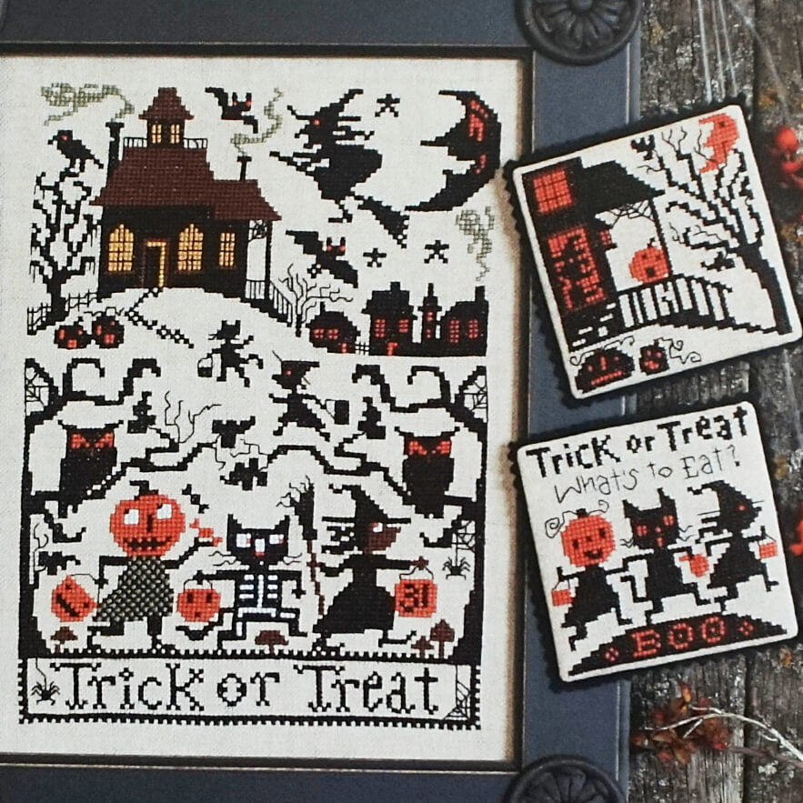 Trick or Treat counted cross stitch patterns