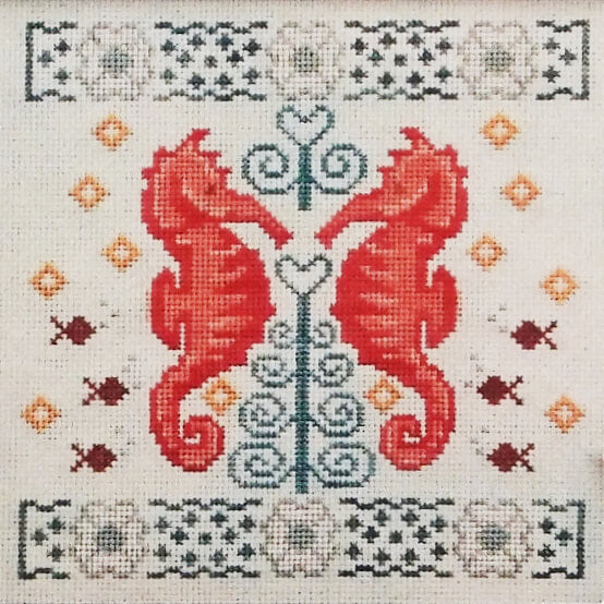 Two If by Seahorse counted cross stitch pattern