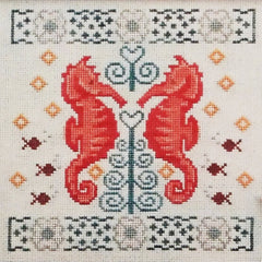 Two If by Seahorse Cross Stitch Pattern | Vintage NeedleArts