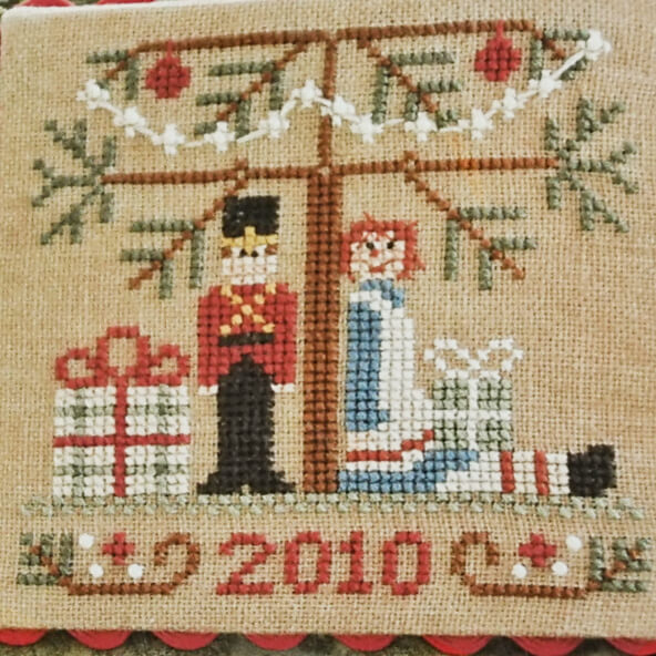 Ornament 10 Under The Tree counted cross stitch pattern