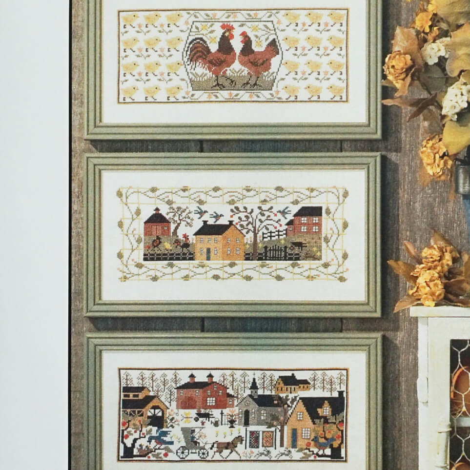 Village Green counted cross stitch patterns