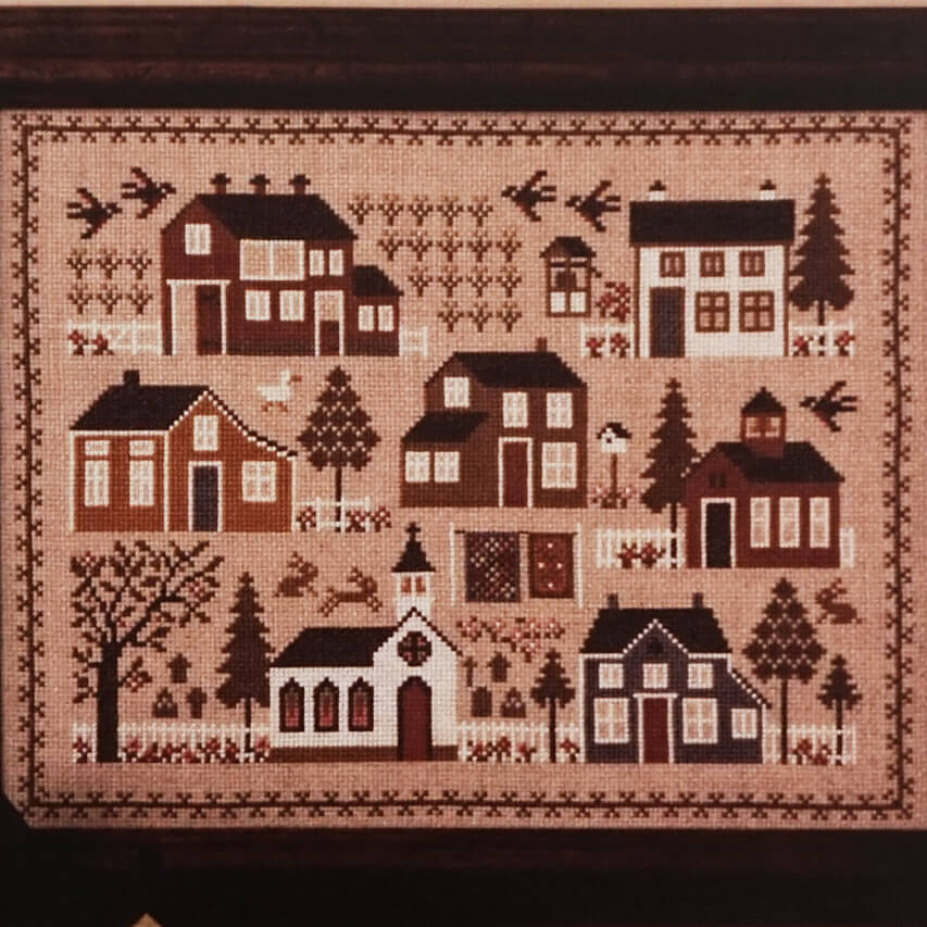 The Village Sampler counted cross stitch pattern
