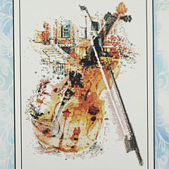 Violin counted cross stitch pattern