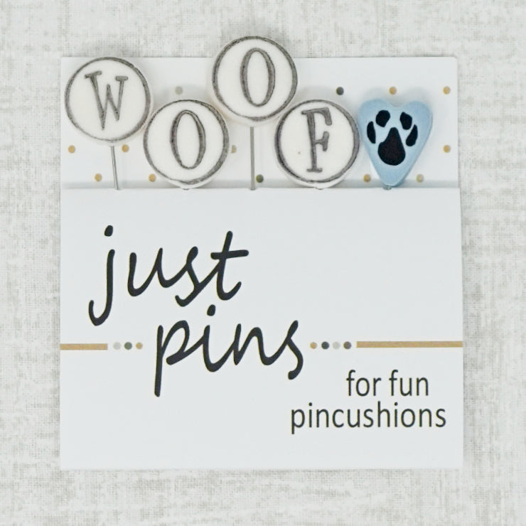 W is for woof just pins by just another button company
