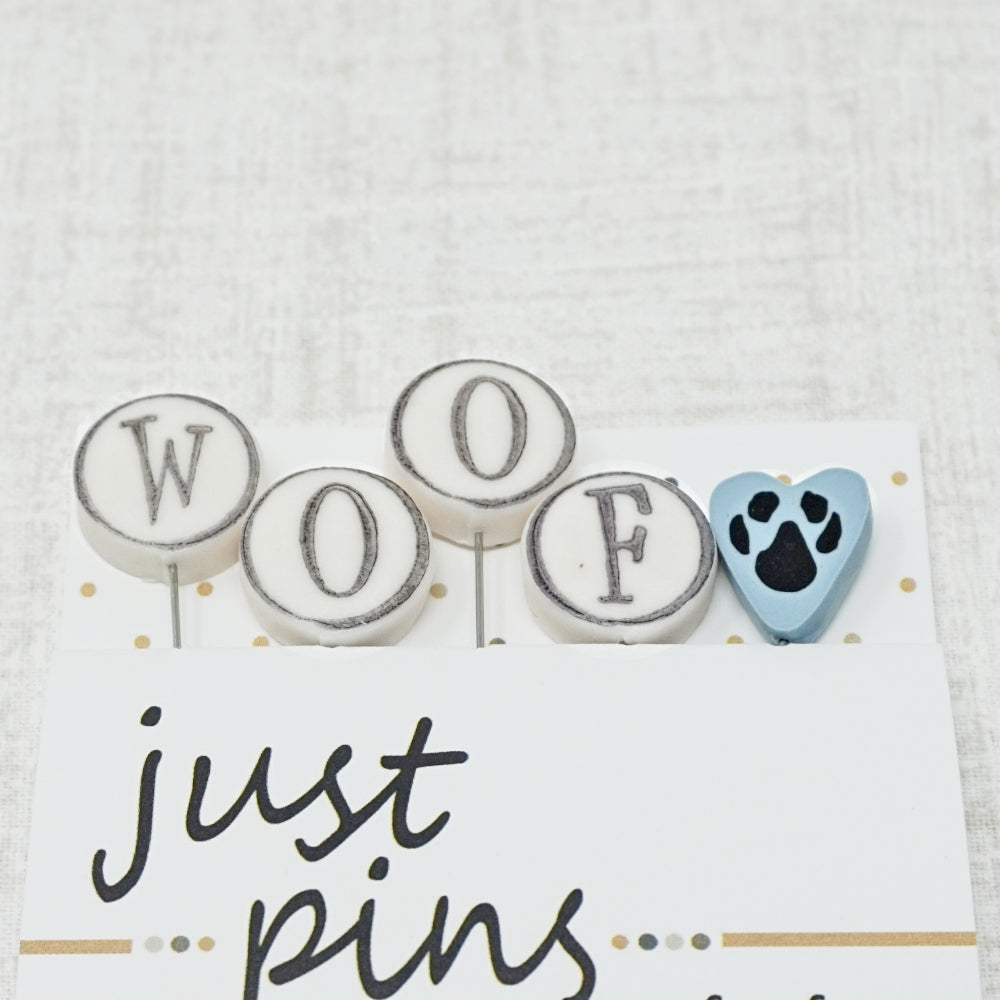 W is for woof pin embellishments or counting pins