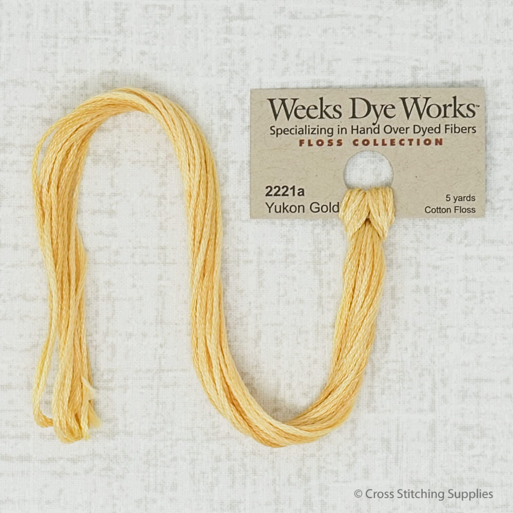 Weeks Dye Works Yukon Gold embroidery floss