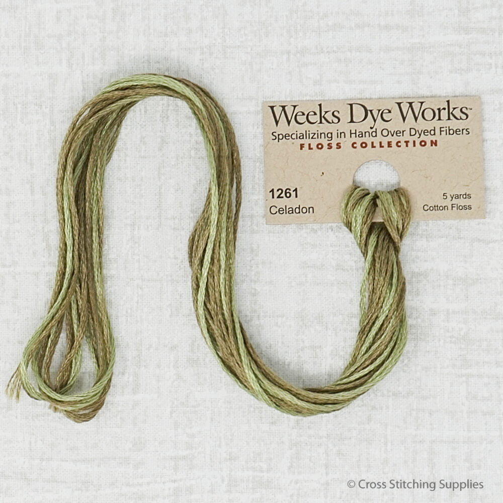 Celadon Weeks Dye Works embroidery thread