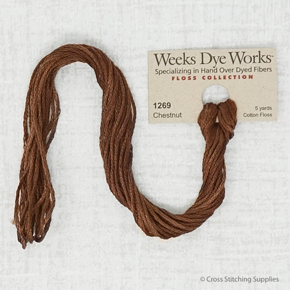 Chestnut Weeks Dye Works embroidery thread