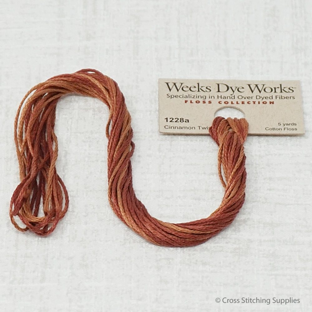 Cinnamon Twist Weeks Dye Works overdyed floss