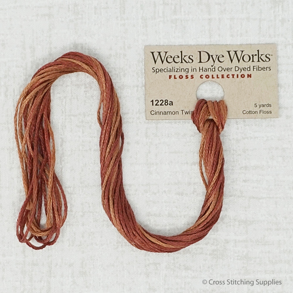 Cinnamon Twist Weeks Dye Works embroidery thread