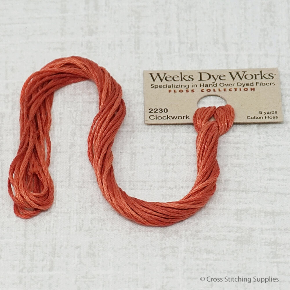 Weeks Dye Works - Clockwork (5 yd. skein) Overdyed Floss