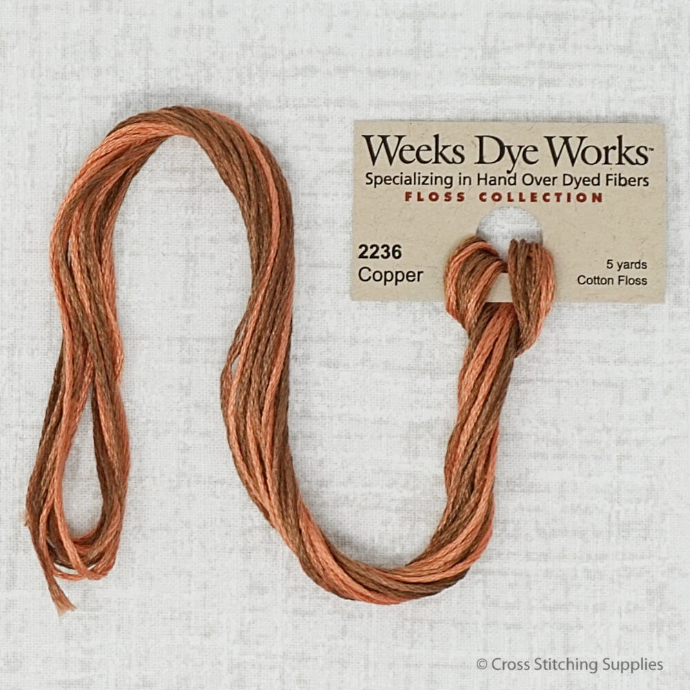 Copper Weeks Dye Works embroidery thread