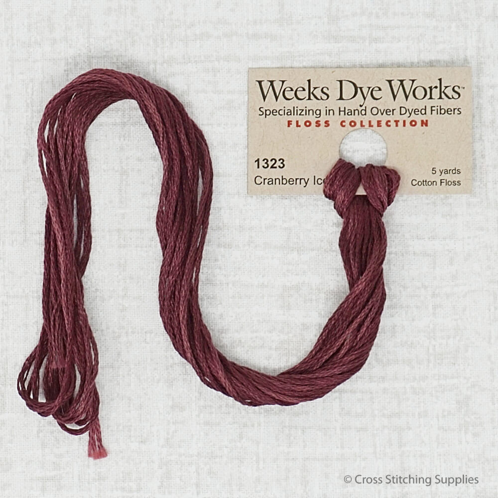 Cranberry Ice Weeks Dye Works embroidery thread