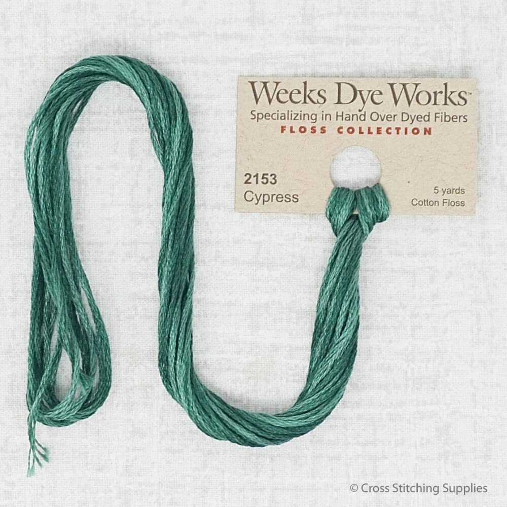 Cypress Weeks Dye Works embroidery thread