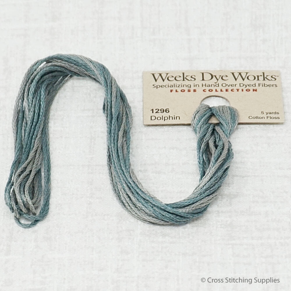 Dolphin Weeks Dye Works overdyed floss