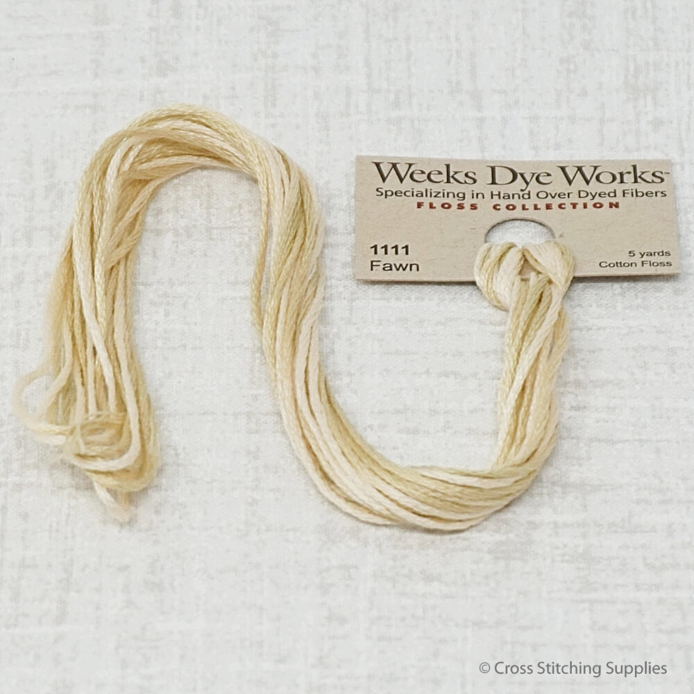 Fawn Weeks Dye Works overdyed floss