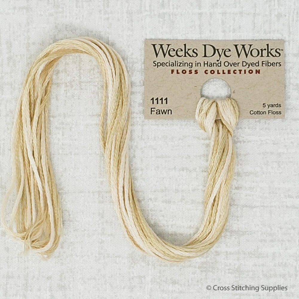 Fawn Weeks Dye Works embroidery thread