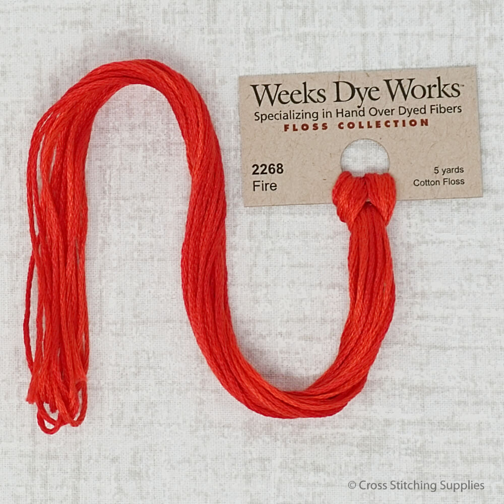 Fire Weeks Dye Works embroidery thread
